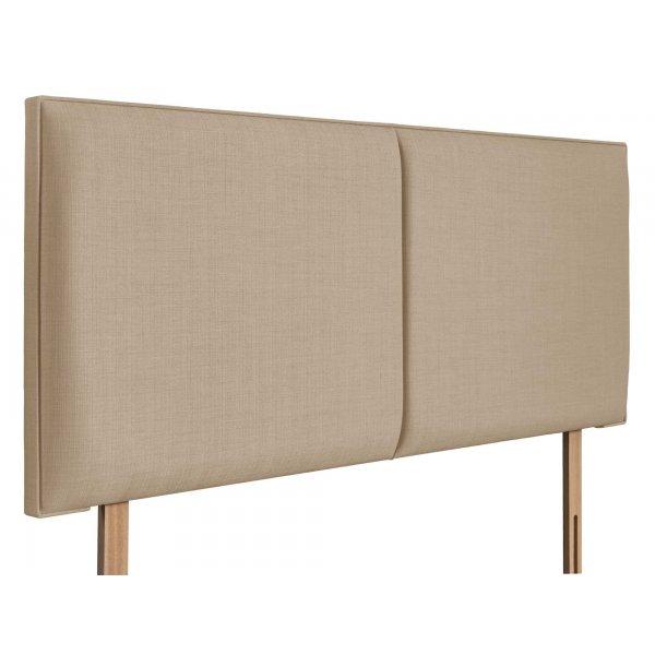 Swanglen Cairo Gem Fabric Headboard with Wooden Struts - Beige - Single 3ft