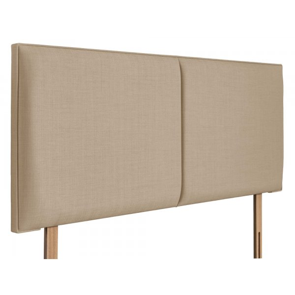 Swanglen Cairo Gem Fabric Headboard with Wooden Struts - Beige - Double 4ft6