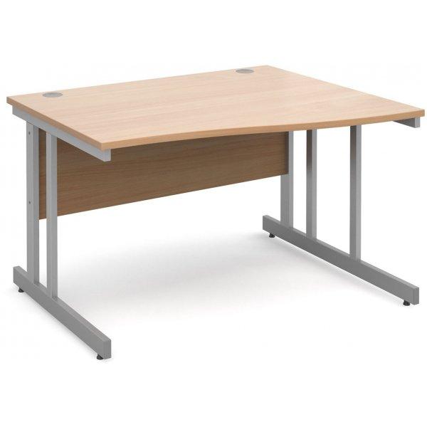 DSK Momento 1200mm Right Hand Wave Desk - Beech