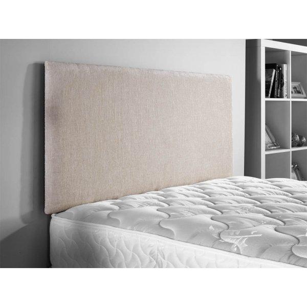 ValuFurniture Doll Chenille Fabric Headboard - Cream - Single 3ft