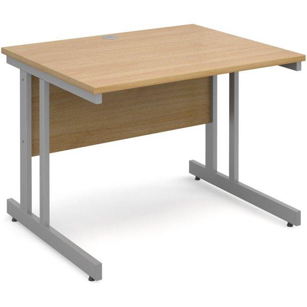DSK Momento 1000mm Straight Desk - Light Oak