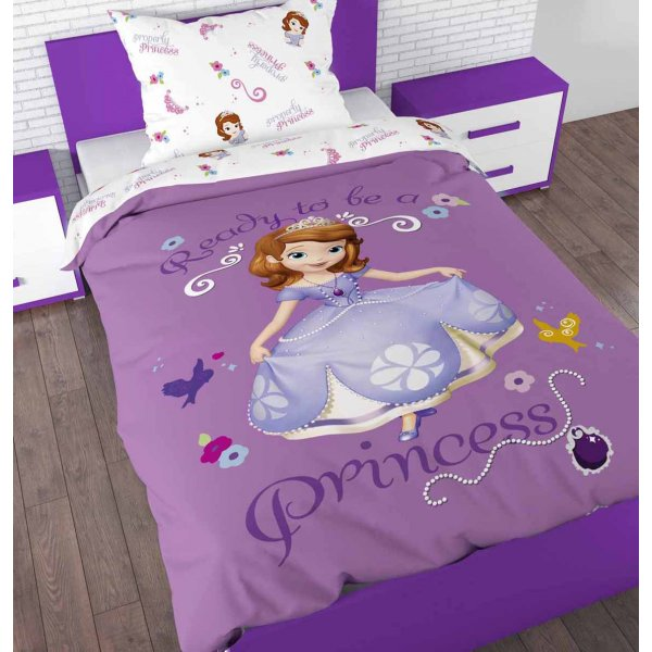 Disney Sofia the First Duvet Cover Set For Kids - Multicoloured - Single 3ft