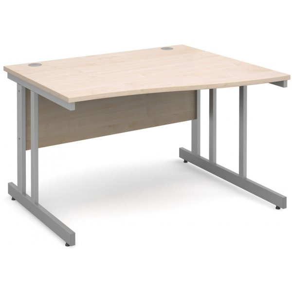 DSK Momento 1200mm Right Hand Wave Desk - Maple
