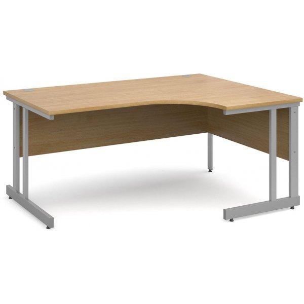 DSK Momento 1600mm Right Hand Ergonomic Desk - Light Oak