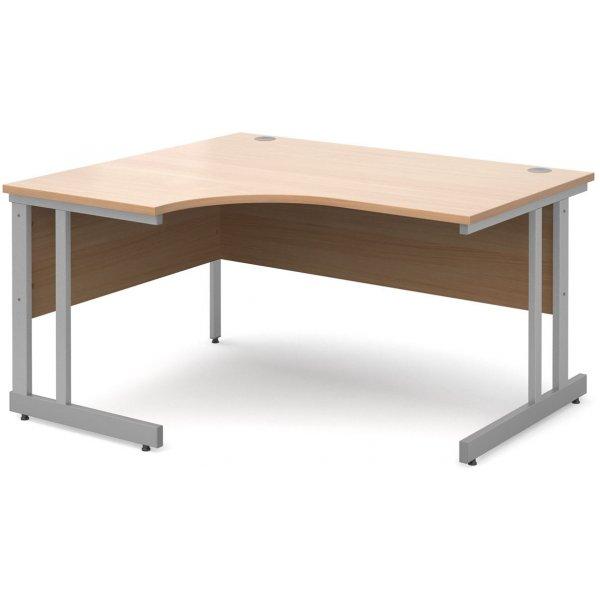 DSK Momento 1400mm Left Hand Ergonomic Desk - Beech