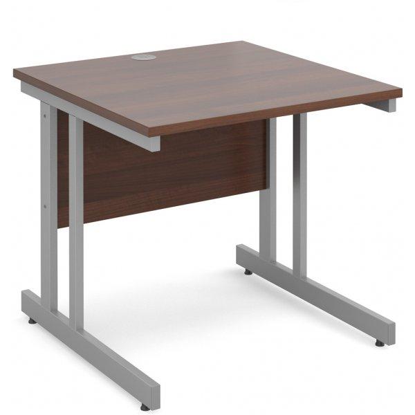 DSK Momento 800mm Straight Desk - Walnut