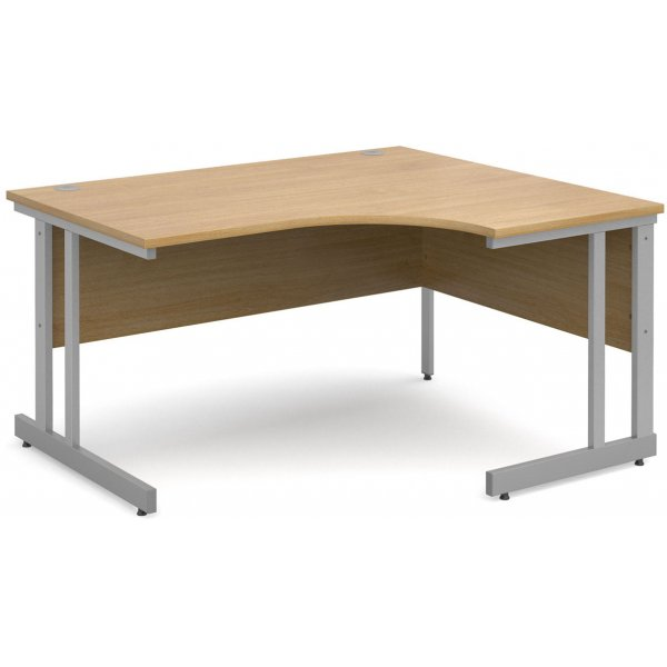 DSK Momento 1400mm Right Hand Ergonomic Desk - Light Oak