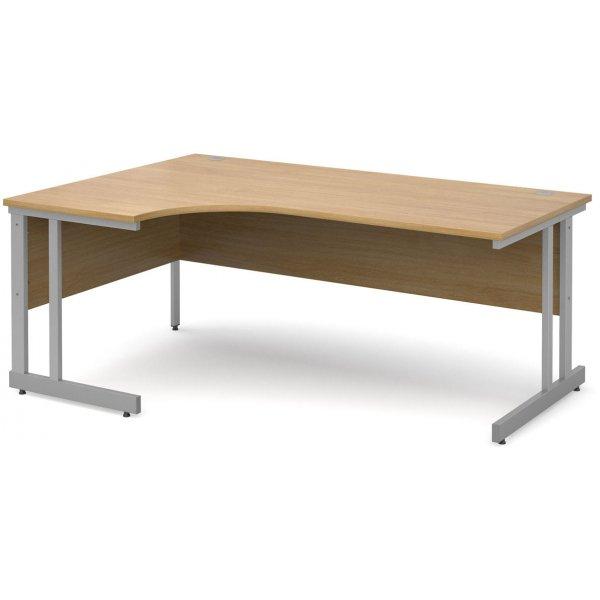 DSK Momento 1800mm Left Hand Ergonomic Desk - Light Oak