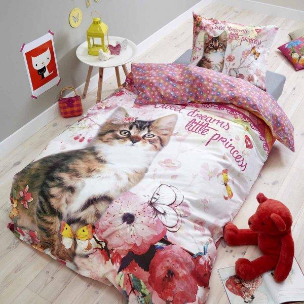 Dreamhouse Princess Kitty Duvet Cover Set For Kids - Multicoloured - Single 3ft