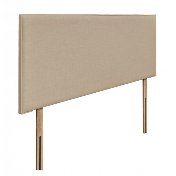 Swanglen Luxor Gem Fabric Headboard with Wooden Struts - Beige - Double 4ft6