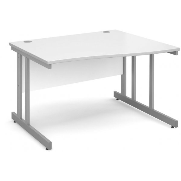 DSK Momento 1200mm Right Hand Wave Desk - White