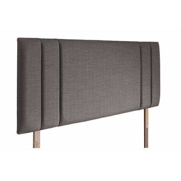 Swanglen Sphinx Gem Fabric Headboard with Wooden Struts - Slate - Double 4ft6
