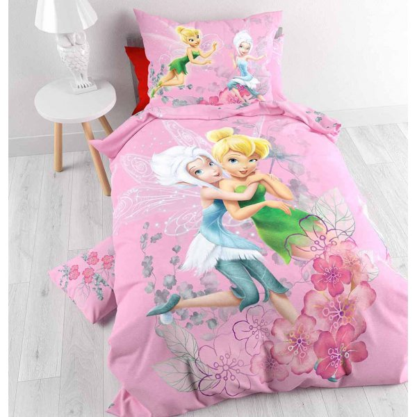 Disney Tinkerbell and Periwinkle Duvet Cover Set For Kids - Multicoloured - Single 3ft