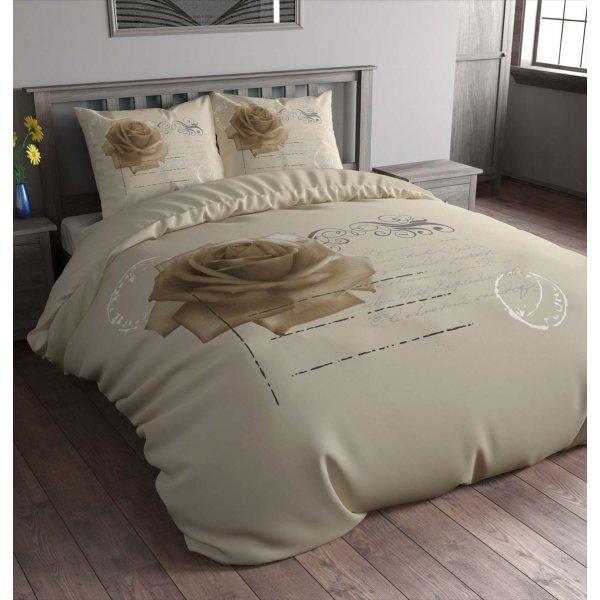 Sleep Time Stamp Rose Duvet Cover Set - Taupe - Single 3ft