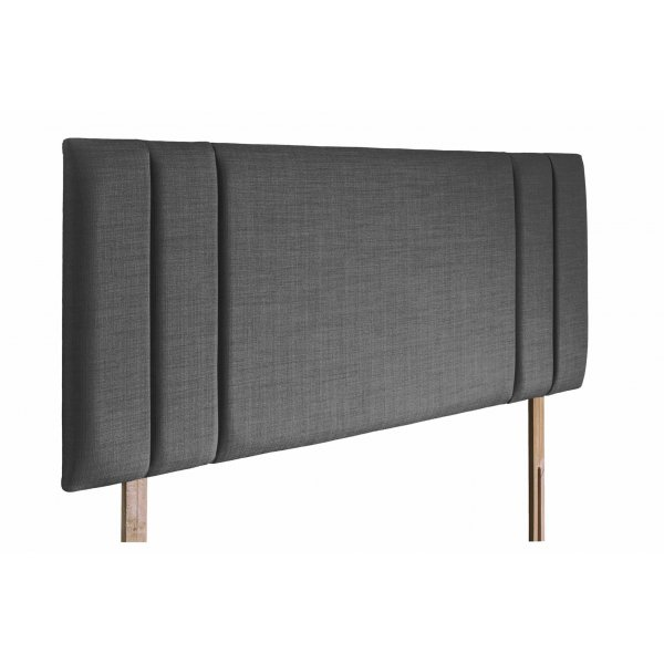 Swanglen Sphinx Gem Fabric Headboard with Wooden Struts - Granite - Double 4ft6