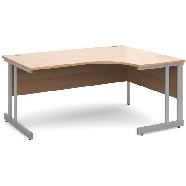 DSK Momento 1600mm Right Hand Ergonomic Desk - Beech
