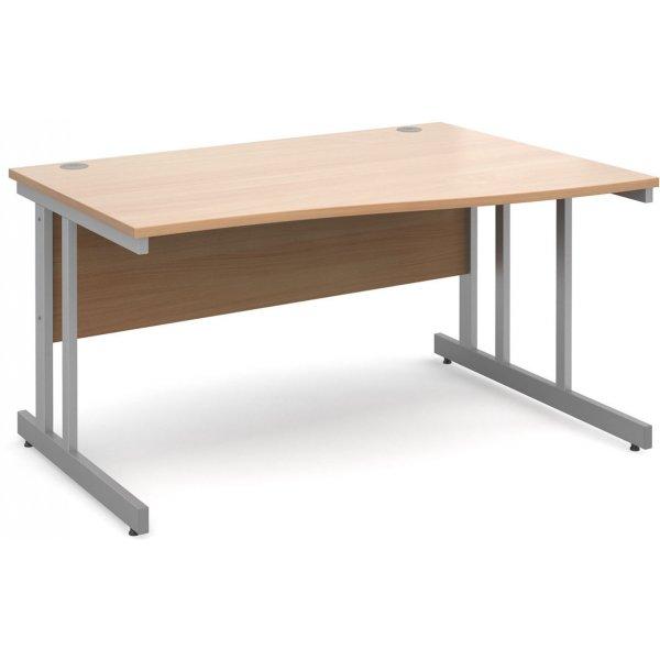 DSK Momento 1400mm Right Hand Wave Desk - Beech