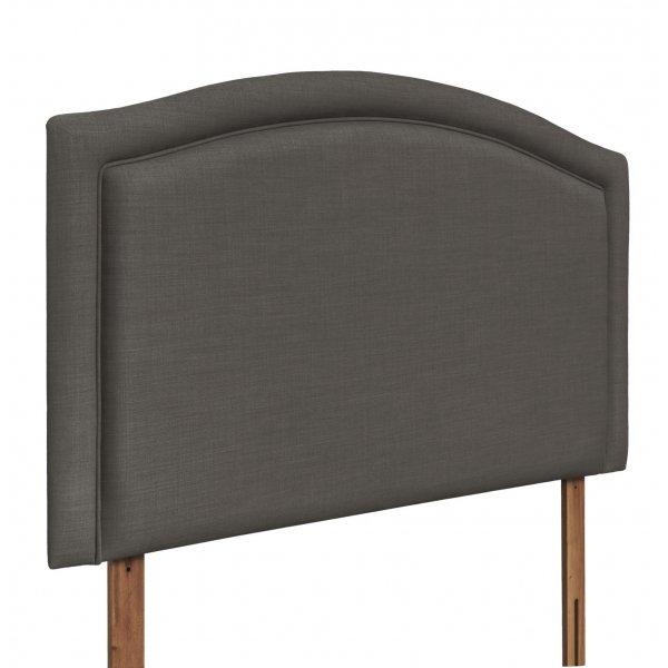 Swanglen Paris Gem Fabric Headboard with Wooden Struts - Slate - Single 3ft