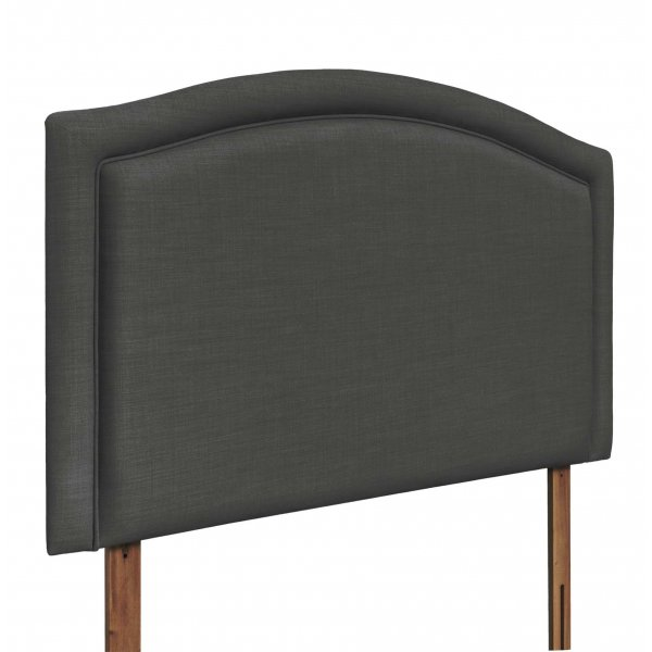 Swanglen Paris Gem Fabric Headboard with Wooden Struts - Granite - King 5ft