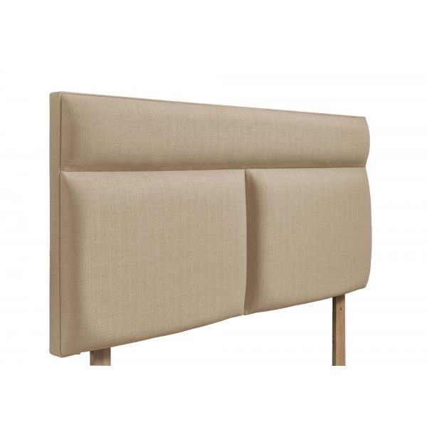 Swanglen Bella Gem Fabric Headboard with Wooden Struts - Beige - Double 4ft6