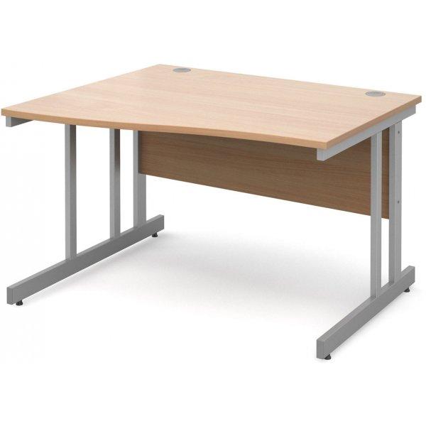 DSK Momento 1200mm Left Hand Wave Desk - Beech