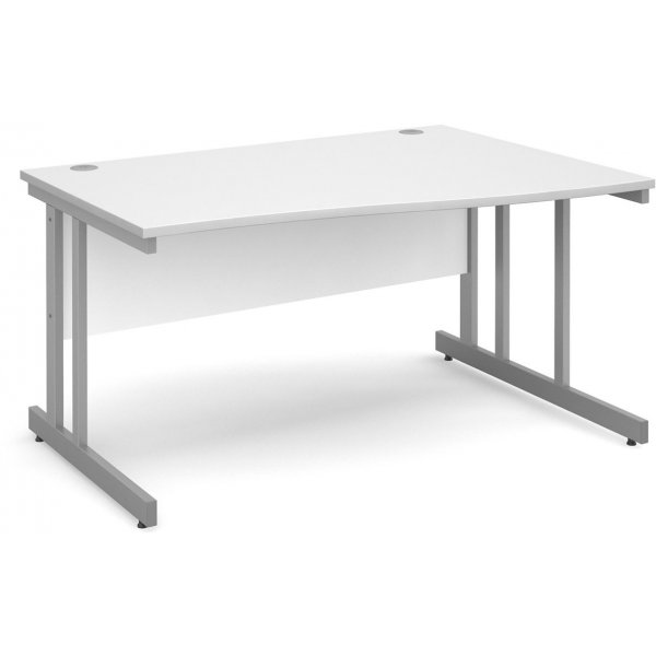DSK Momento 1400mm Right Hand Wave Desk - White