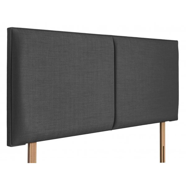 Swanglen Cairo Gem Fabric Headboard with Wooden Struts - Granite - Single 3ft