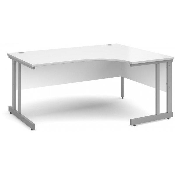 DSK Momento 1600mm Right Hand Ergonomic Desk - White