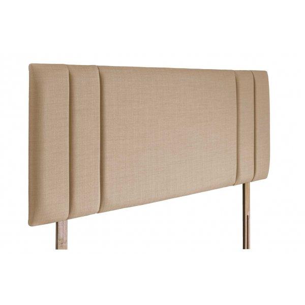 Swanglen Sphinx Gem Fabric Headboard with Wooden Struts - Oatmeal - King 5ft