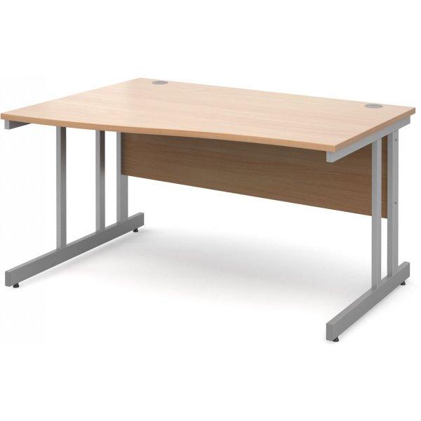 DSK Momento 1400mm Left Hand Wave Desk - Beech