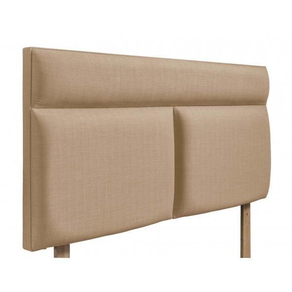 Swanglen Bella Gem Fabric Headboard with Wooden Struts - Oatmeal - Double 4ft6