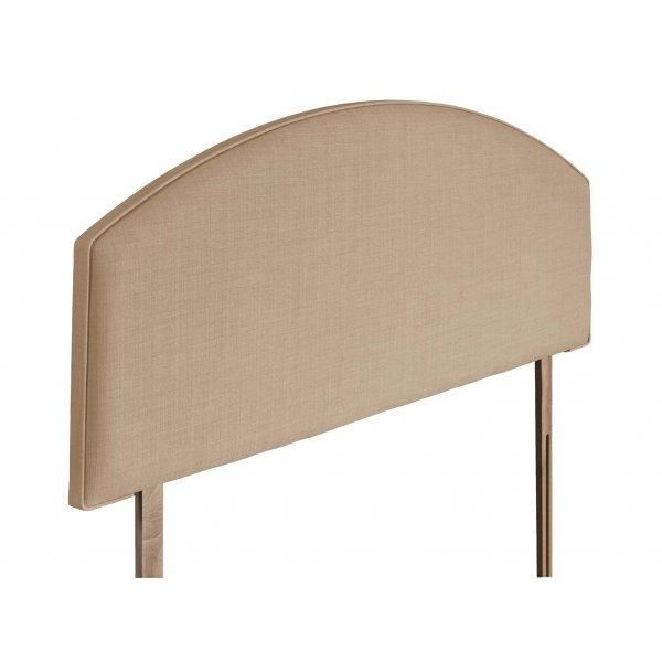 Swanglen Cleopatra Gem Fabric Headboard with Wooden Struts - Oatmeal - Single 3ft