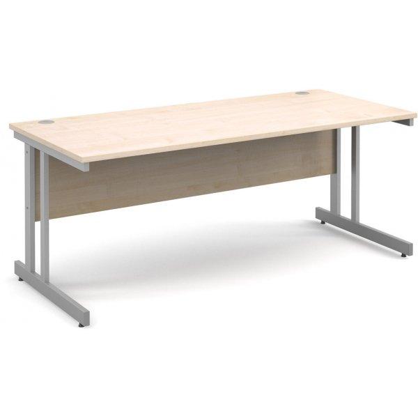 DSK Momento 1800mm Straight Desk - Maple