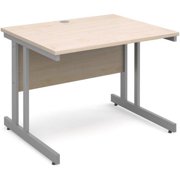 DSK Momento 1000mm Straight Desk - Maple