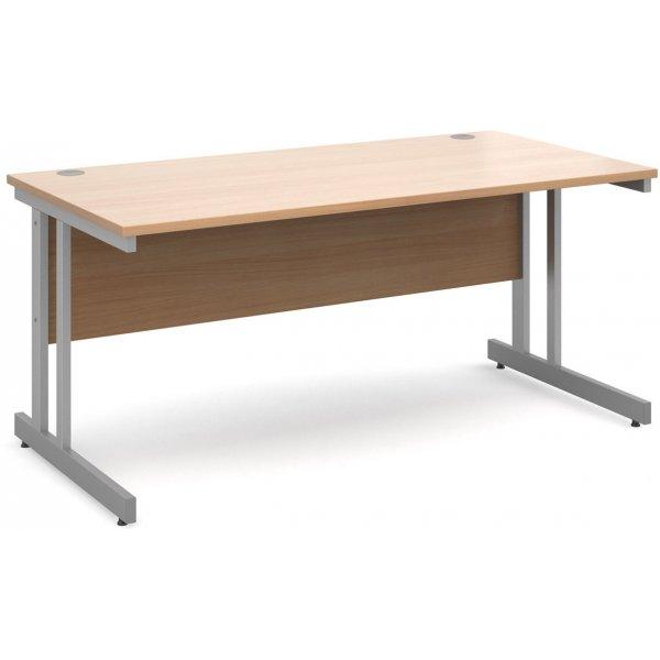 DSK Momento 1600mm Straight Desk - Beech