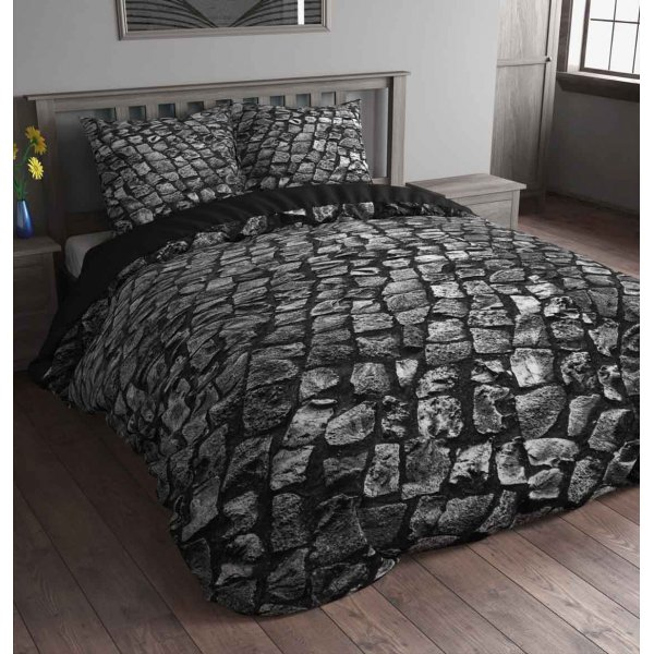 Sleep Time Stone Road Duvet Cover Set - Anthracite  - Single 3ft