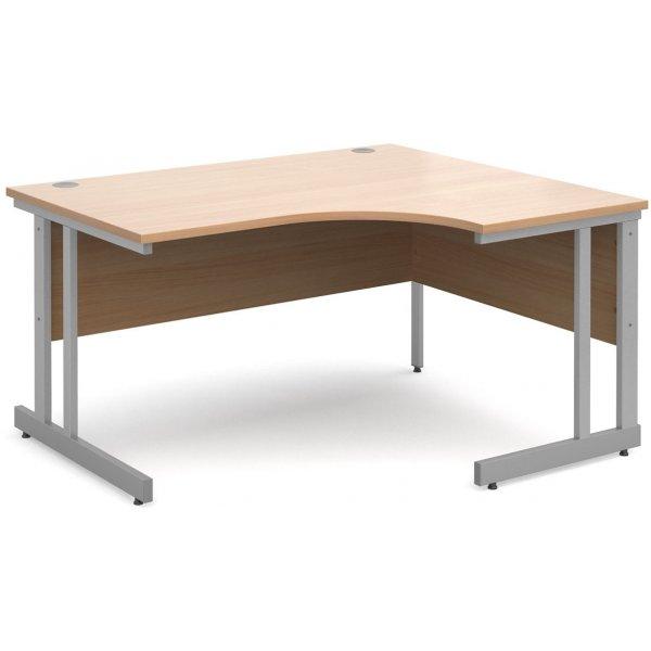 DSK Momento 1400mm Right Hand Ergonomic Desk - Beech