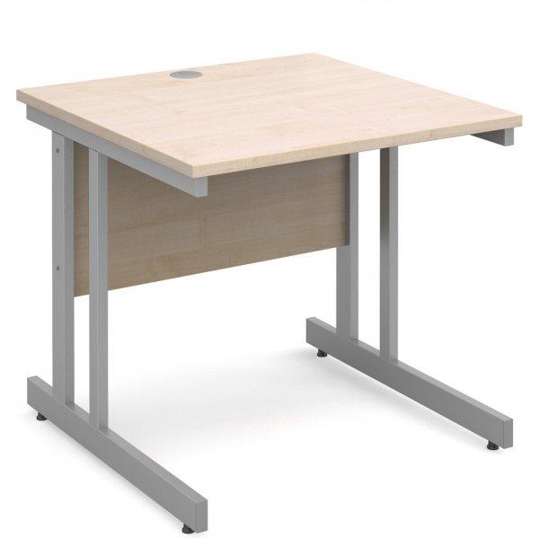 DSK Momento 800mm Straight Desk - Maple