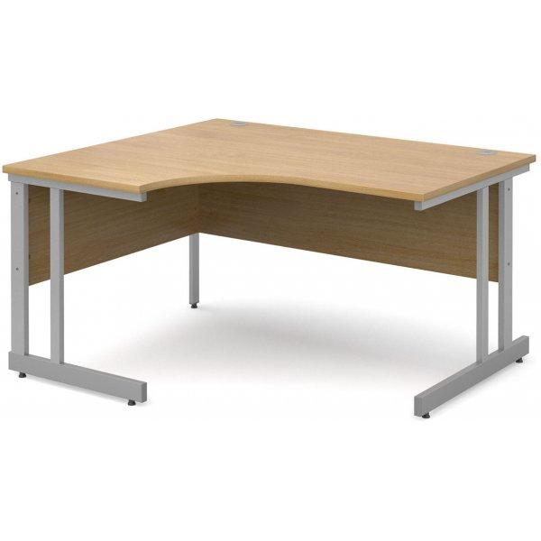DSK Momento 1400mm Left Hand Ergonomic Desk - Light Oak