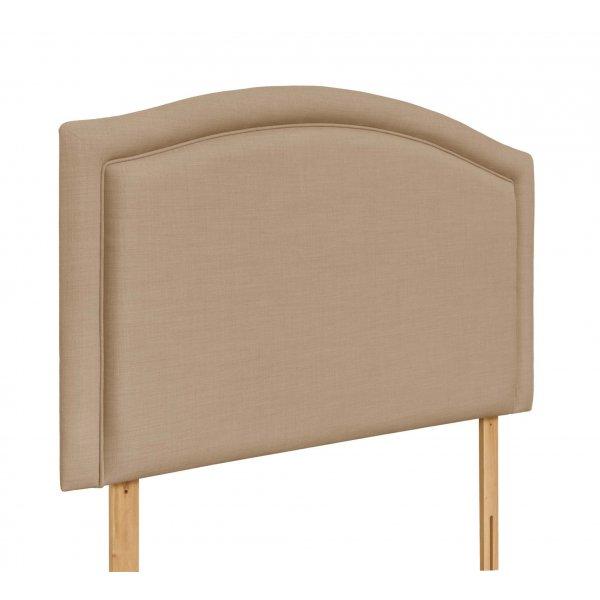 Swanglen Paris Gem Fabric Headboard with Wooden Struts - Oatmeal - King 5ft