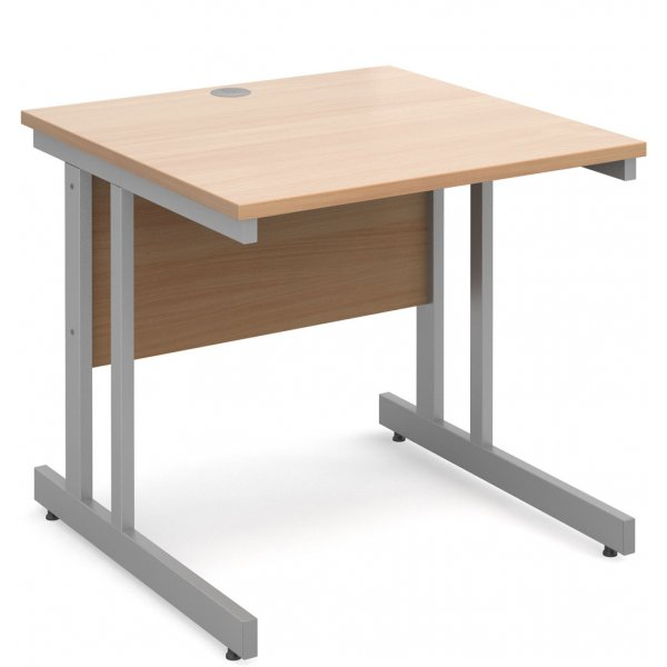 DSK Momento 800mm Straight Desk - Beech