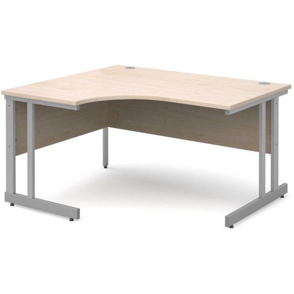 DSK Momento 1400mm Left Hand Ergonomic Desk - Maple