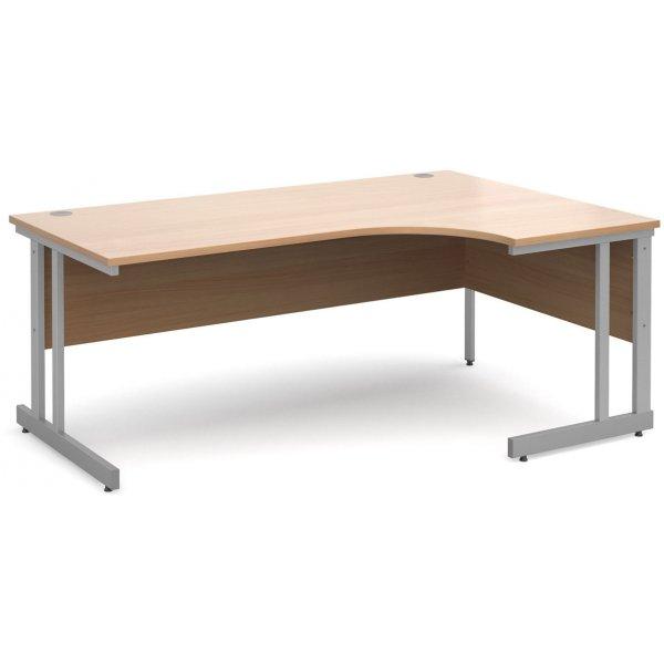 DSK Momento 1800mm Right Hand Ergonomic Desk - Beech