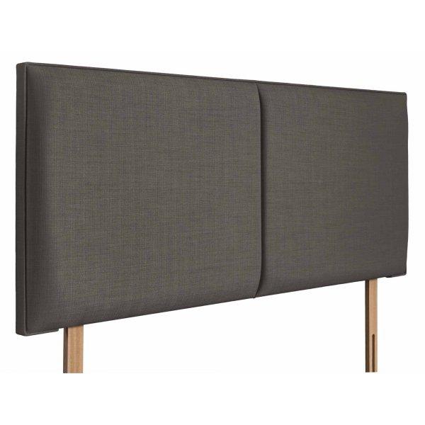 Swanglen Cairo Gem Fabric Headboard with Wooden Struts - Slate - Double 4ft6