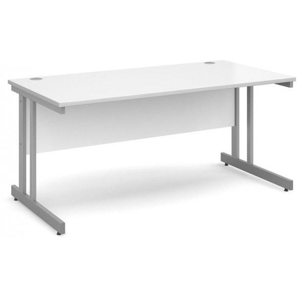 DSK Momento 1600mm Straight Desk - White