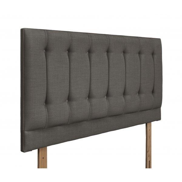 Swanglen Tamar Gem Fabric Headboard with Wooden Struts - Slate - King 5ft