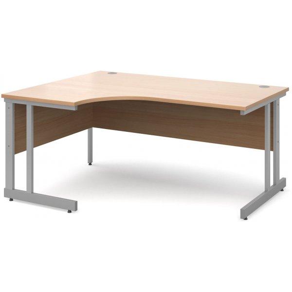 DSK Momento 1600mm Left Hand Ergonomic Desk - Beech