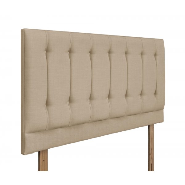 Swanglen Tamar Gem Fabric Headboard with Wooden Struts - Beige - Double 4ft6