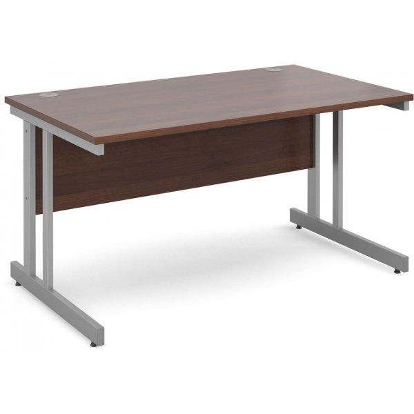 DSK Momento 1400mm Straight Desk - Walnut