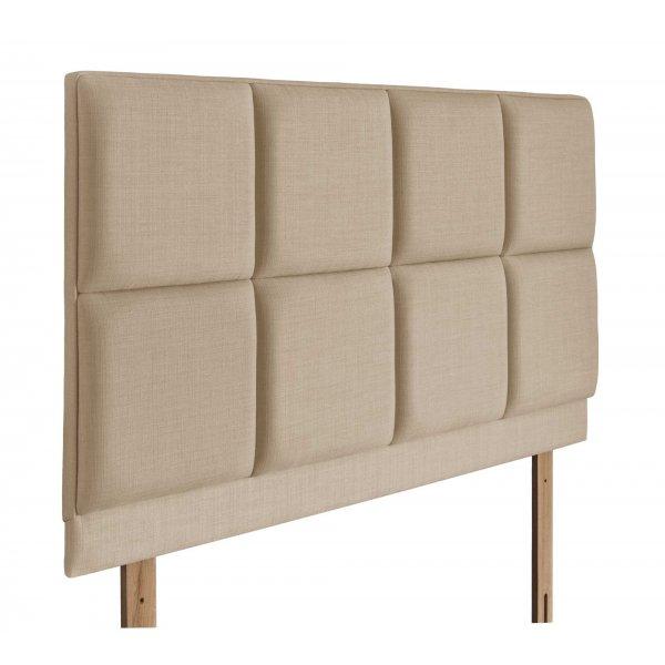 Swanglen Turin Gem Fabric Headboard with Wooden Struts - Beige - Single 3ft
